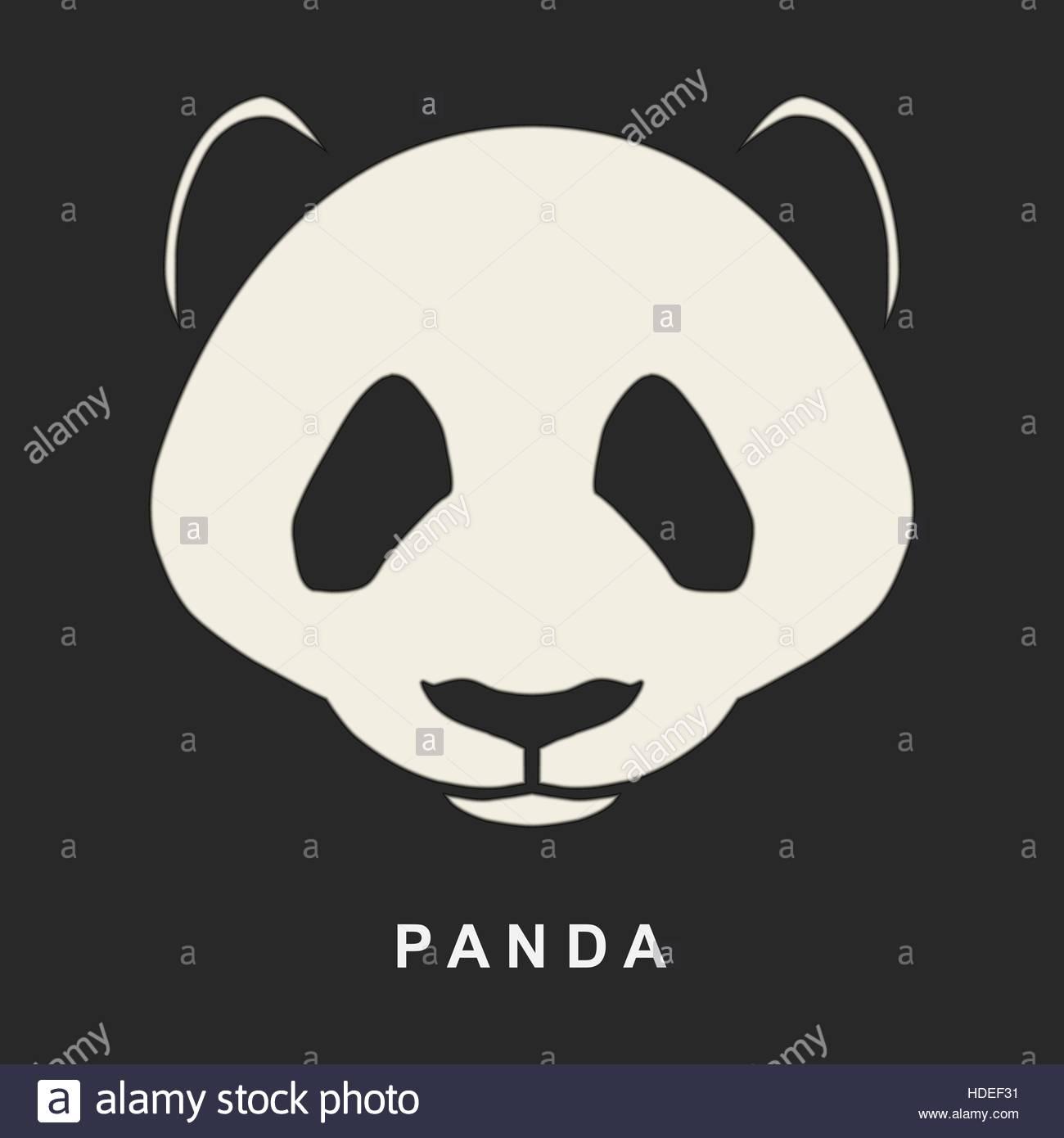 Vector image of Chinese Panda Bear. Cute bear snout logo Stock ...