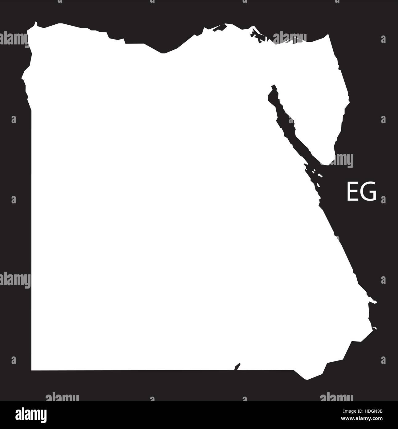Worksheet. Egypt Map black and white illustration Stock Vector Art