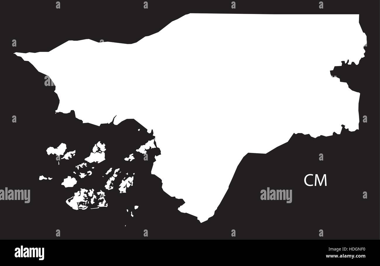 GuineaBissau Map black and white illustration Stock Vector Art