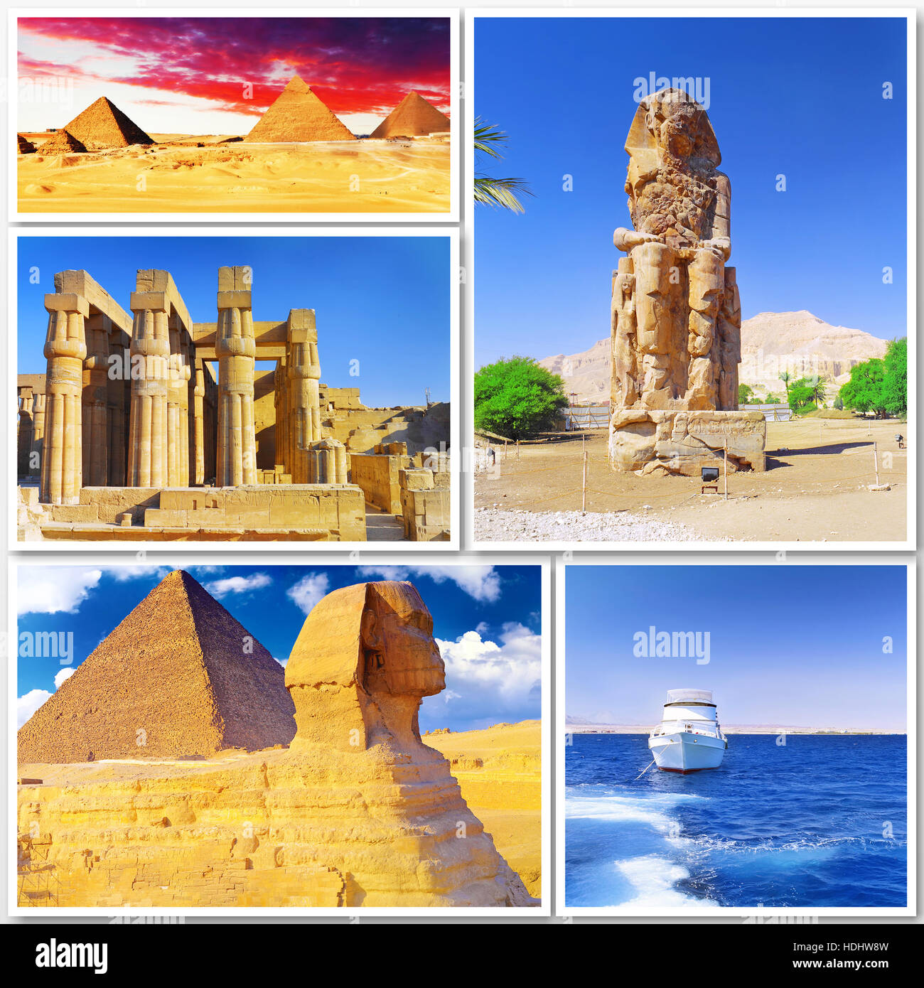 Collage Of Beautiful Egypt Africa Stock Photo Royalty Free - Is egypt in africa