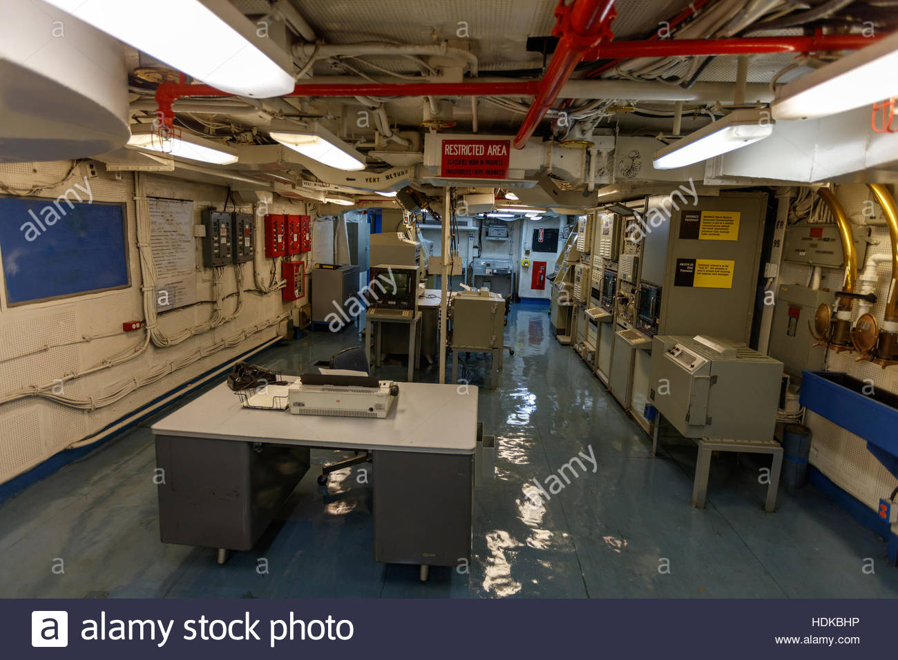 Midway Aircraft Carrier Museum Bridge Interior In San Diego Usa Stock Photo Royalty Free Image