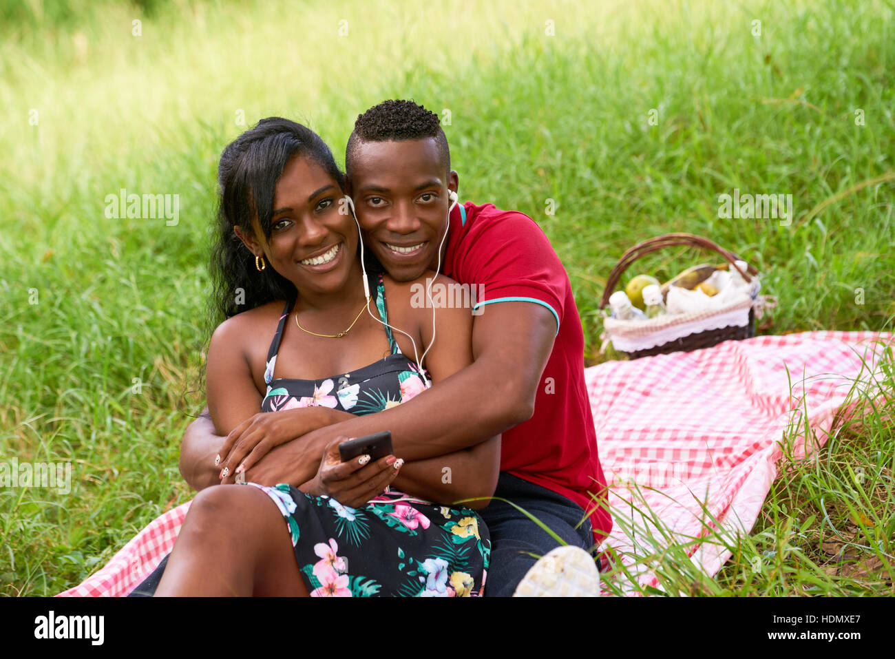 African-american Couples Having Gaiety On Streets We Call