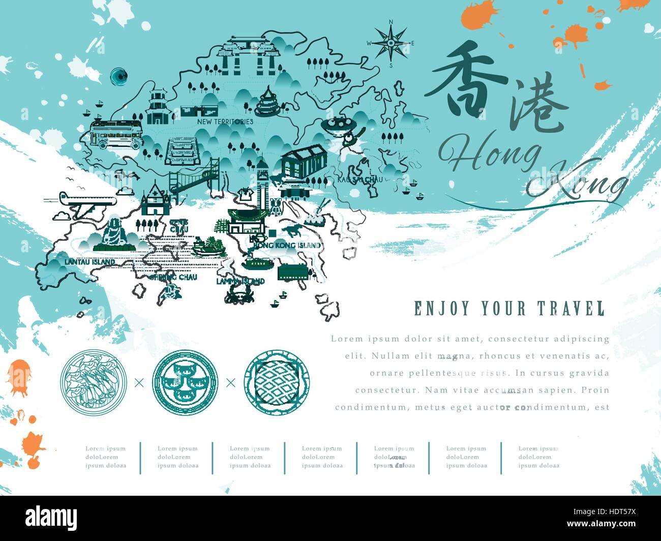 Poster design hong kong - Stock Vector Retro Hong Kong Travel Poster Design The Upper Right Title Is Hong Kong In Chinese Word