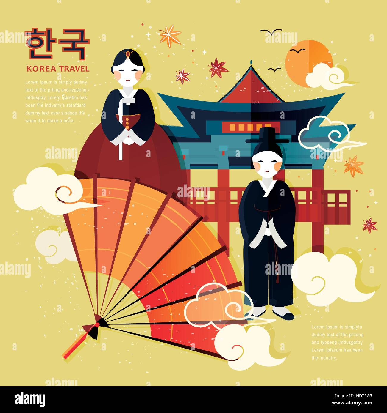 Korean culture stock vector images alamy traditional korean culture symbol in travel poster korea in korean words on upper left biocorpaavc Image collections