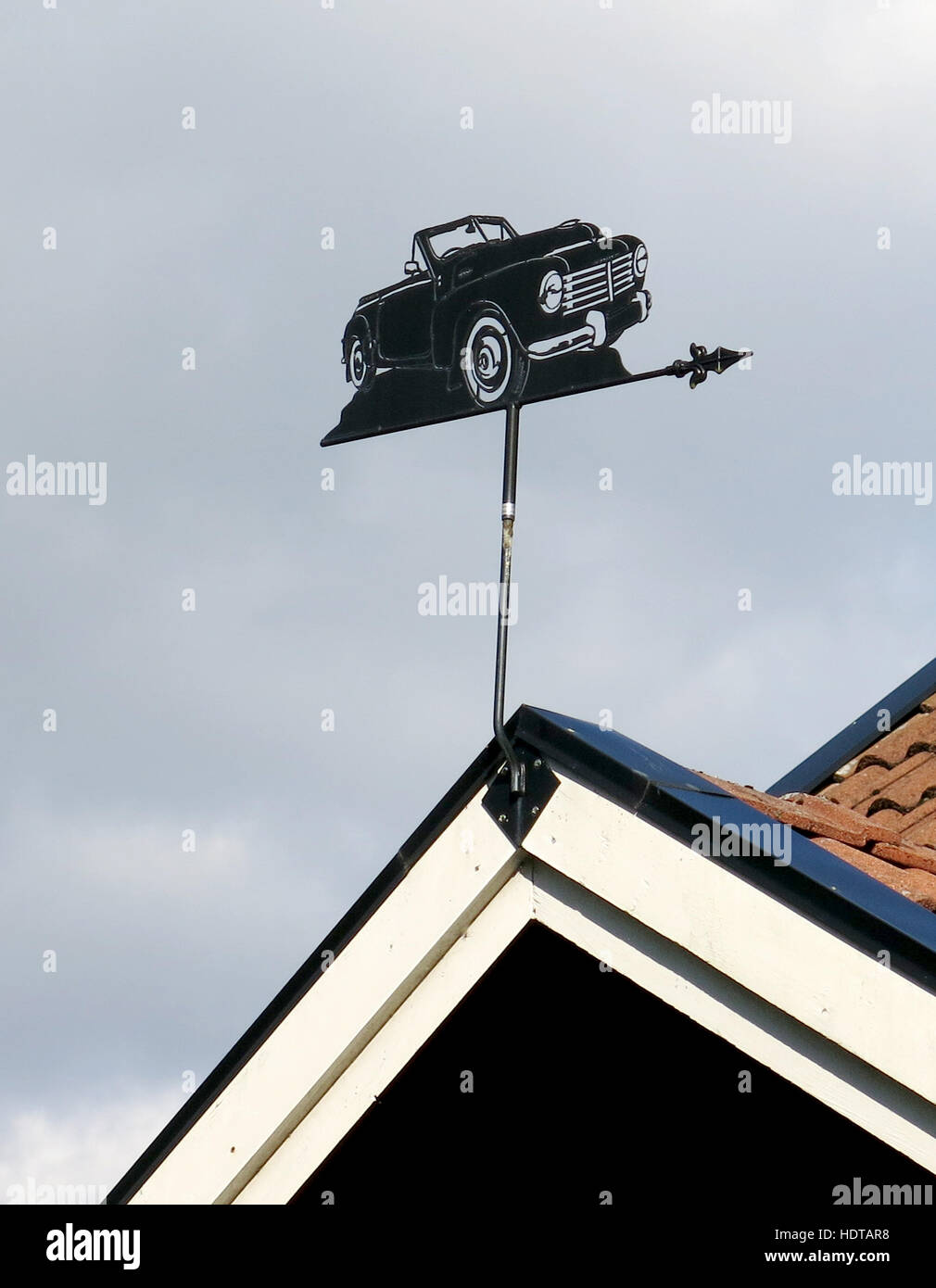 WEATHER VANE as Volvo Convertible 2015 Stock Photo Royalty Free