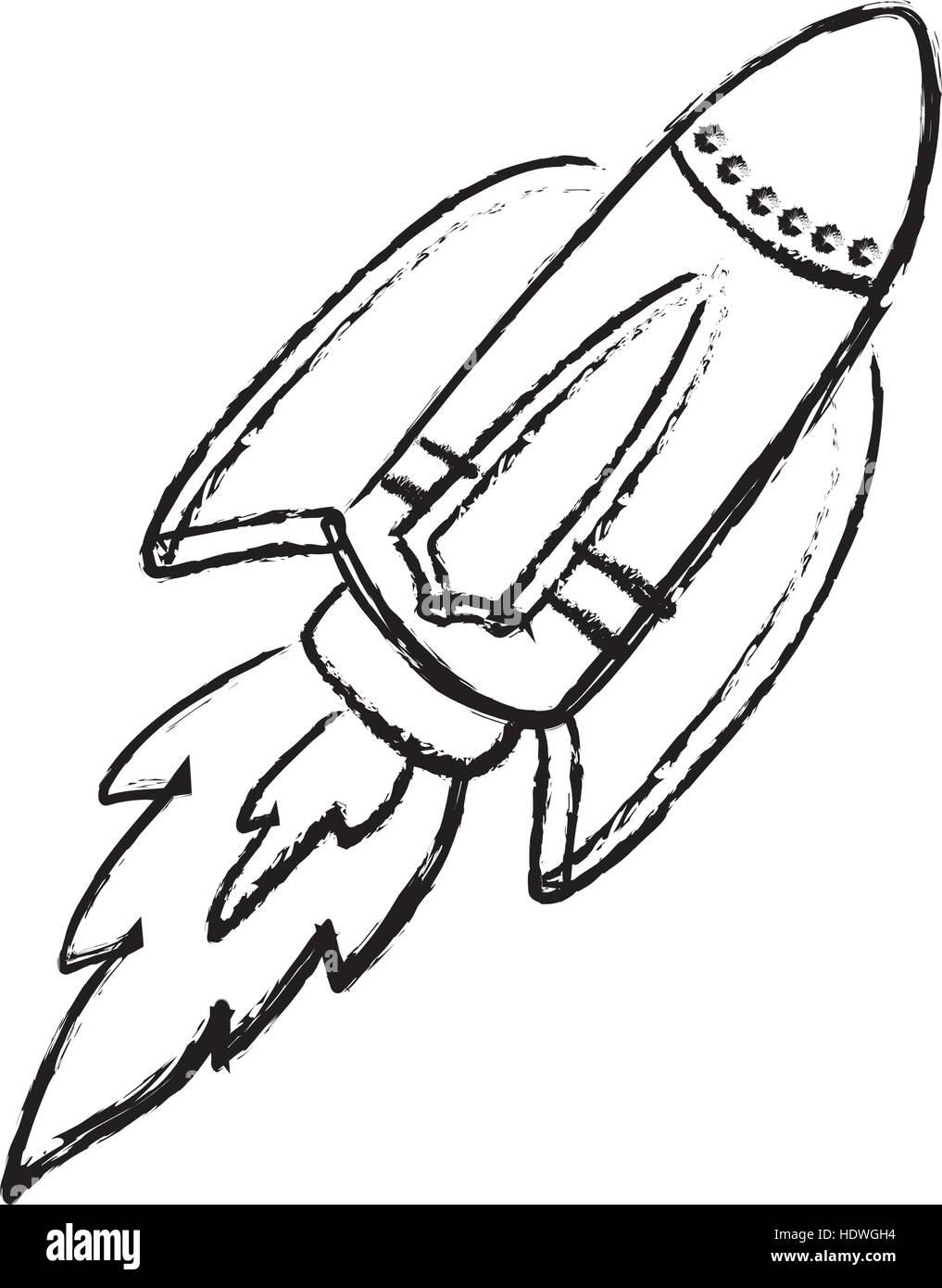 Uncategorized Draw Rocket rocket spaceship draw icon vector illustration graphic design design