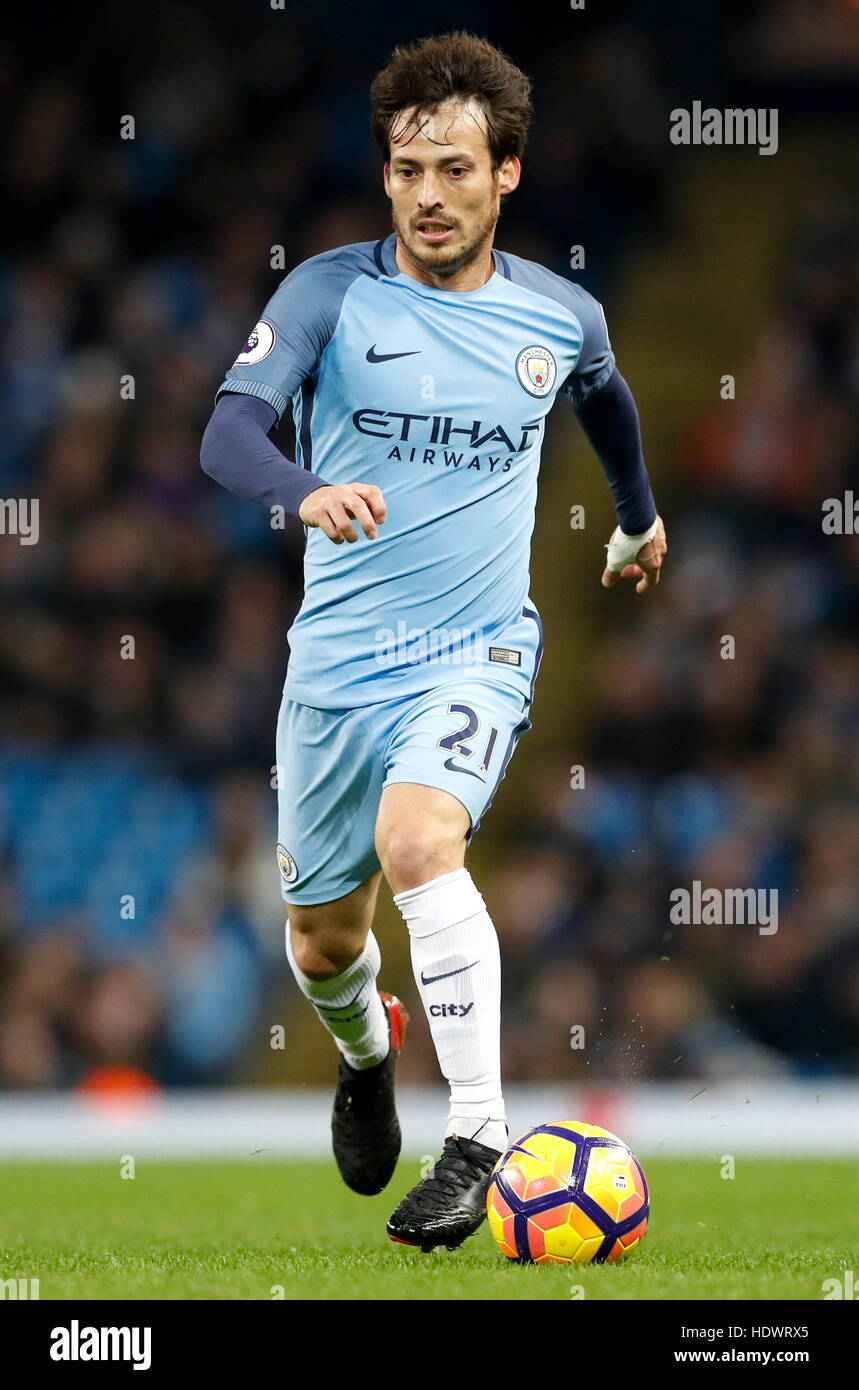 Manchester City s David Silva during the Premier League match at