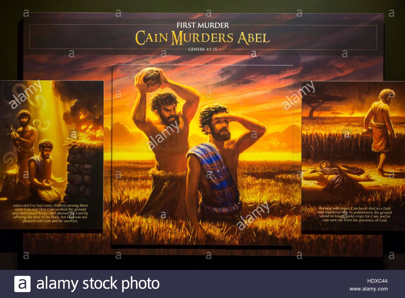 biblical exhibits inside noah u0027s ark at the ark encounter in stock