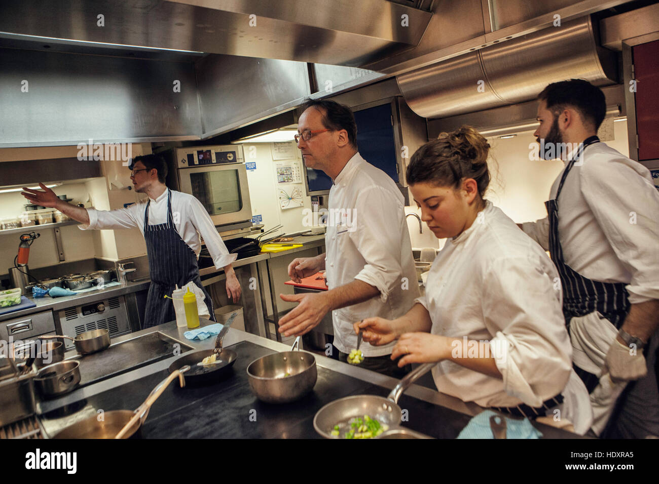 left to right  eric gabulya  demi chef de partie  alexis gauthier stock photo  royalty free