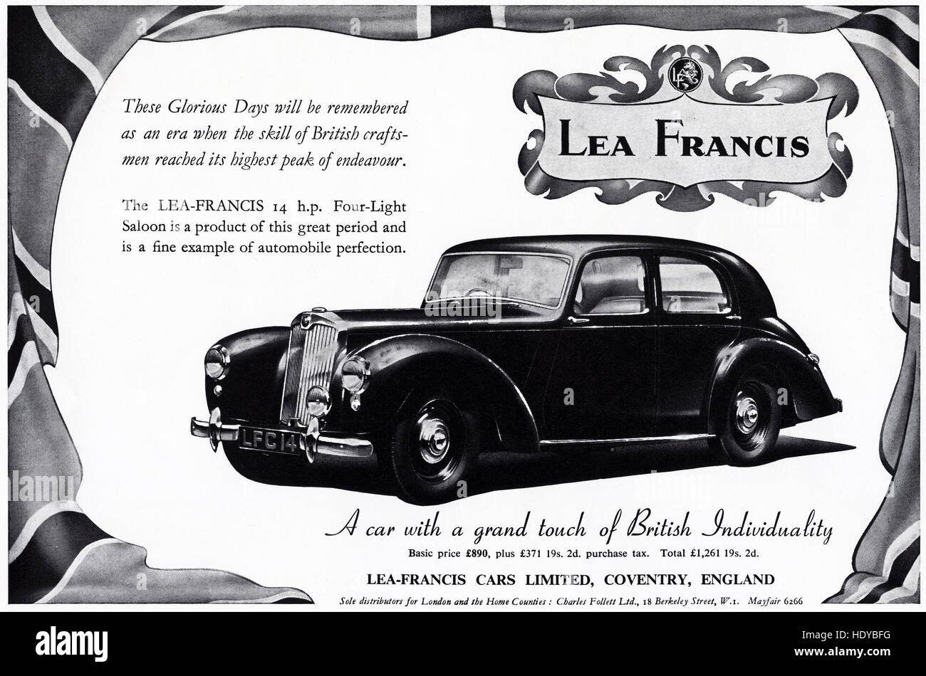 1950s advert advertising from original old vintage English ...