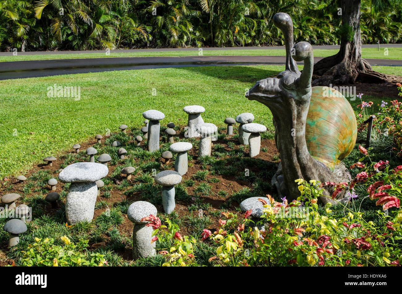 Sculptures In Na `Aina Kai Botanical Gardens U0026 Sculpture Park, Kauai, Hawaii