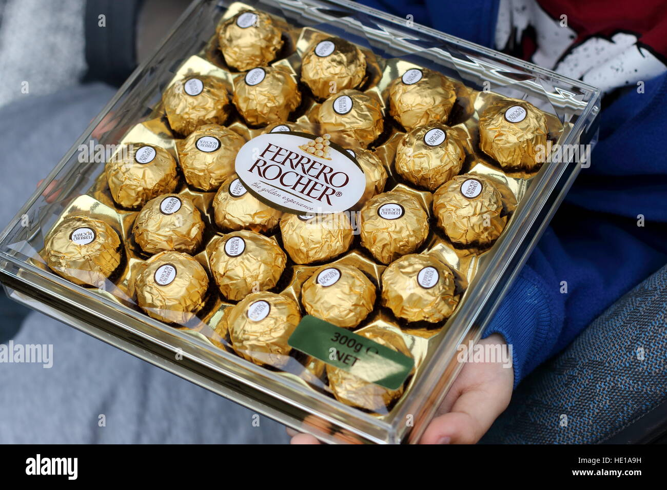 Ferrero Rocher chocolates in a clear box Stock Photo, Royalty Free ...