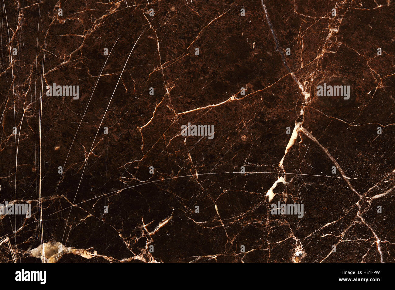 White Pattern In Dark Brown Marble Texture Background For