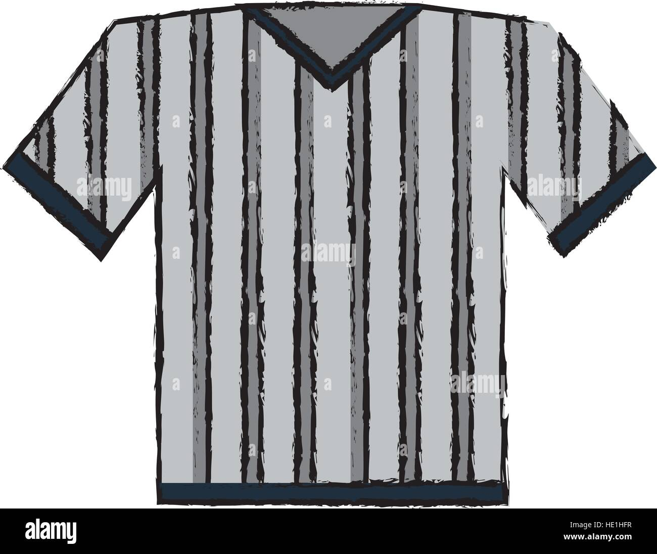 drawing jersey referee american football stock vector art