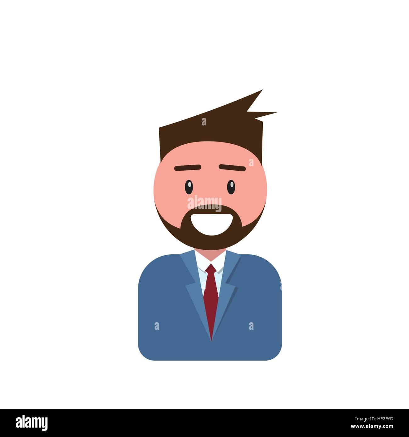 Profile Icon Male Avatar Man Hipster Cartoon Guy Beard