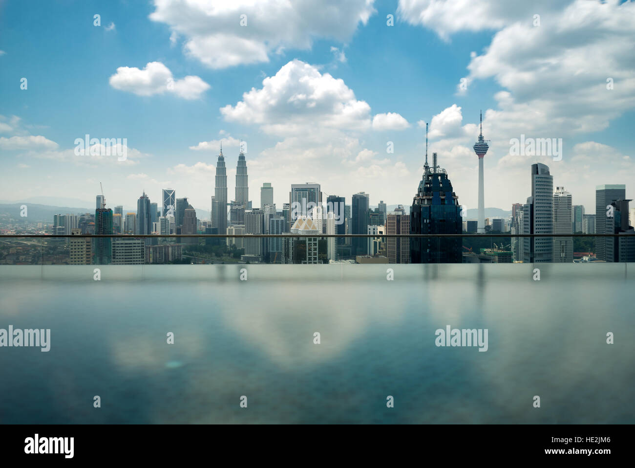 Swimming pool on roof top with beautiful city view kuala - Swimming pool specialist malaysia ...