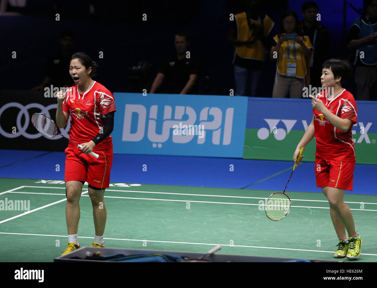 Dubai United Arab Emirates 18th Dec 2016 Chen Qingchen and Jia