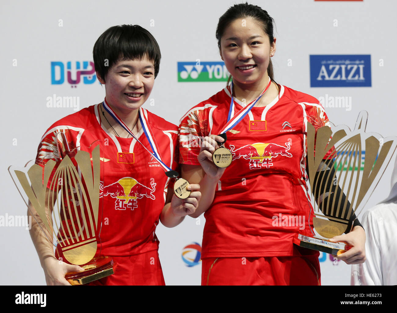 Dubai United Arab Emirates 18th Dec 2016 Chen Qingchen L and