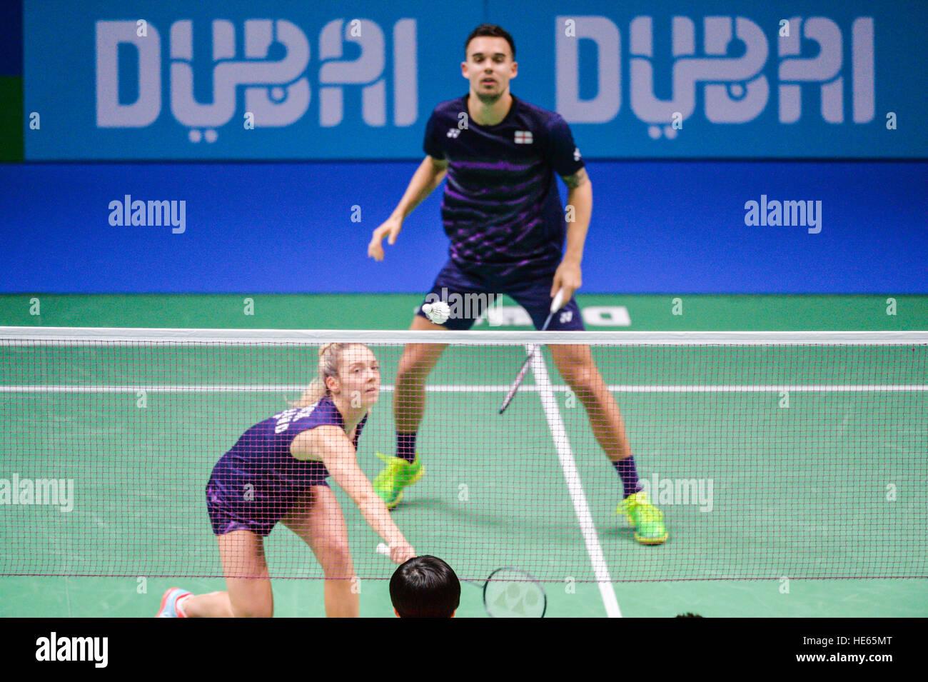 DUBAI UAE 18th Dec 2016 BWF 2015 mixed doubles champions Chris