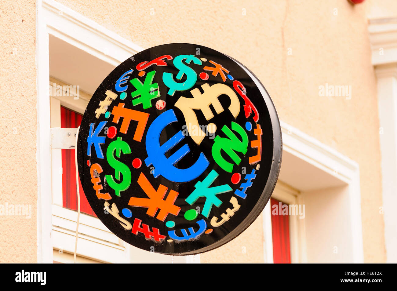 Sign with currency symbols at a foreign exchange stock photo sign with currency symbols at a foreign exchange biocorpaavc Images
