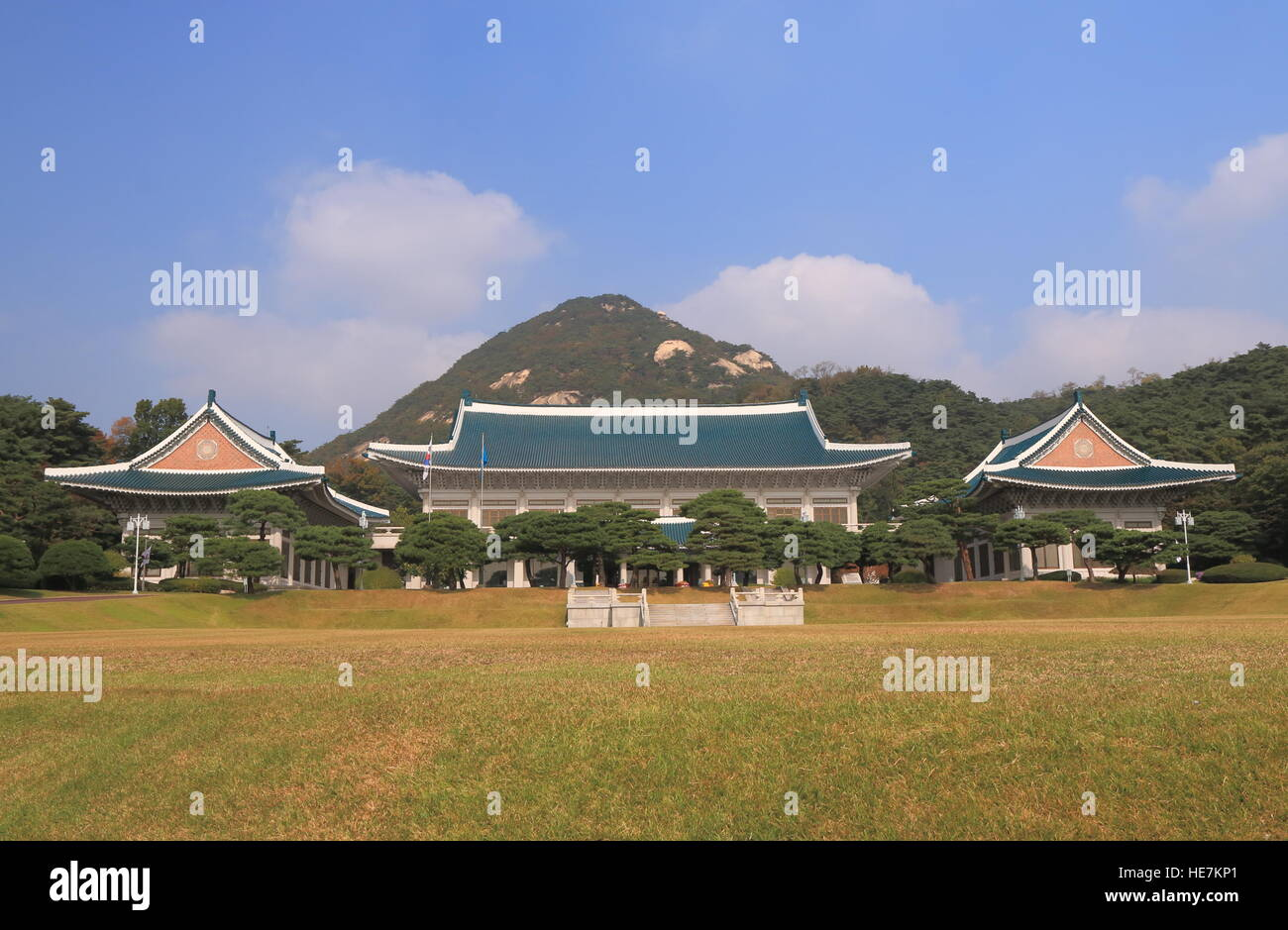 Blue House Presidential Office In Seoul South Korea The Is Executive And Official Residence Of President Republic