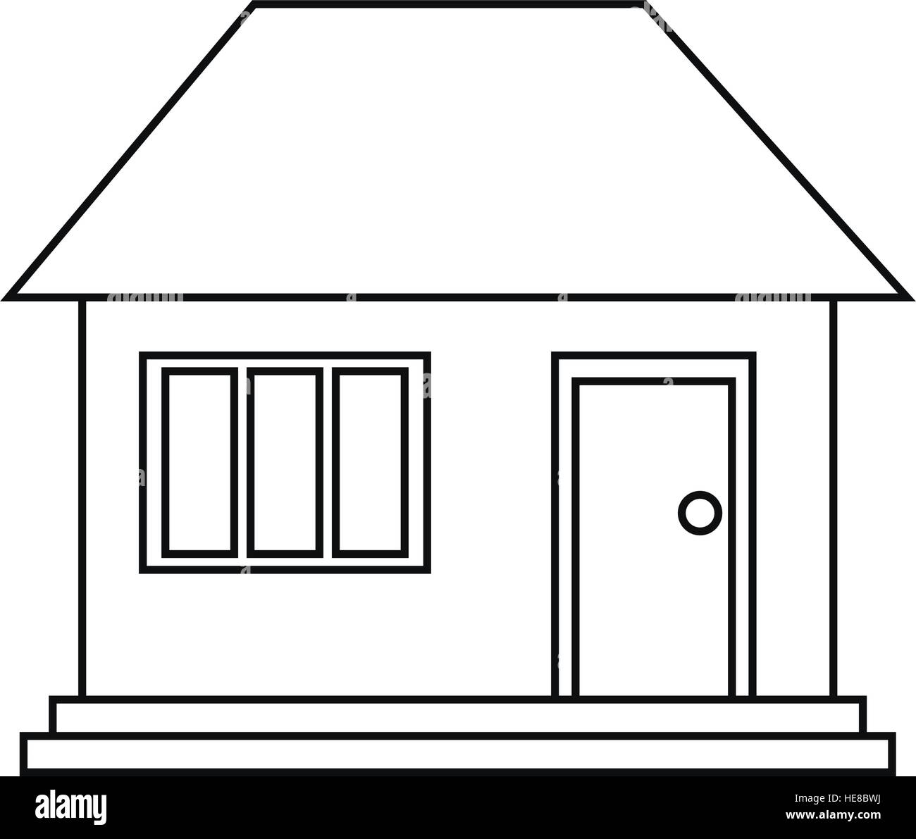 House home family residential outline stock image