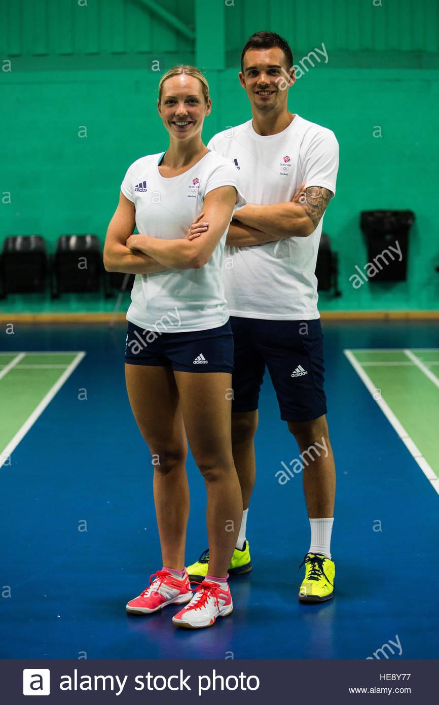 Gabby Adcock and Chris Adcock photocall at the Team GB Rio 2016