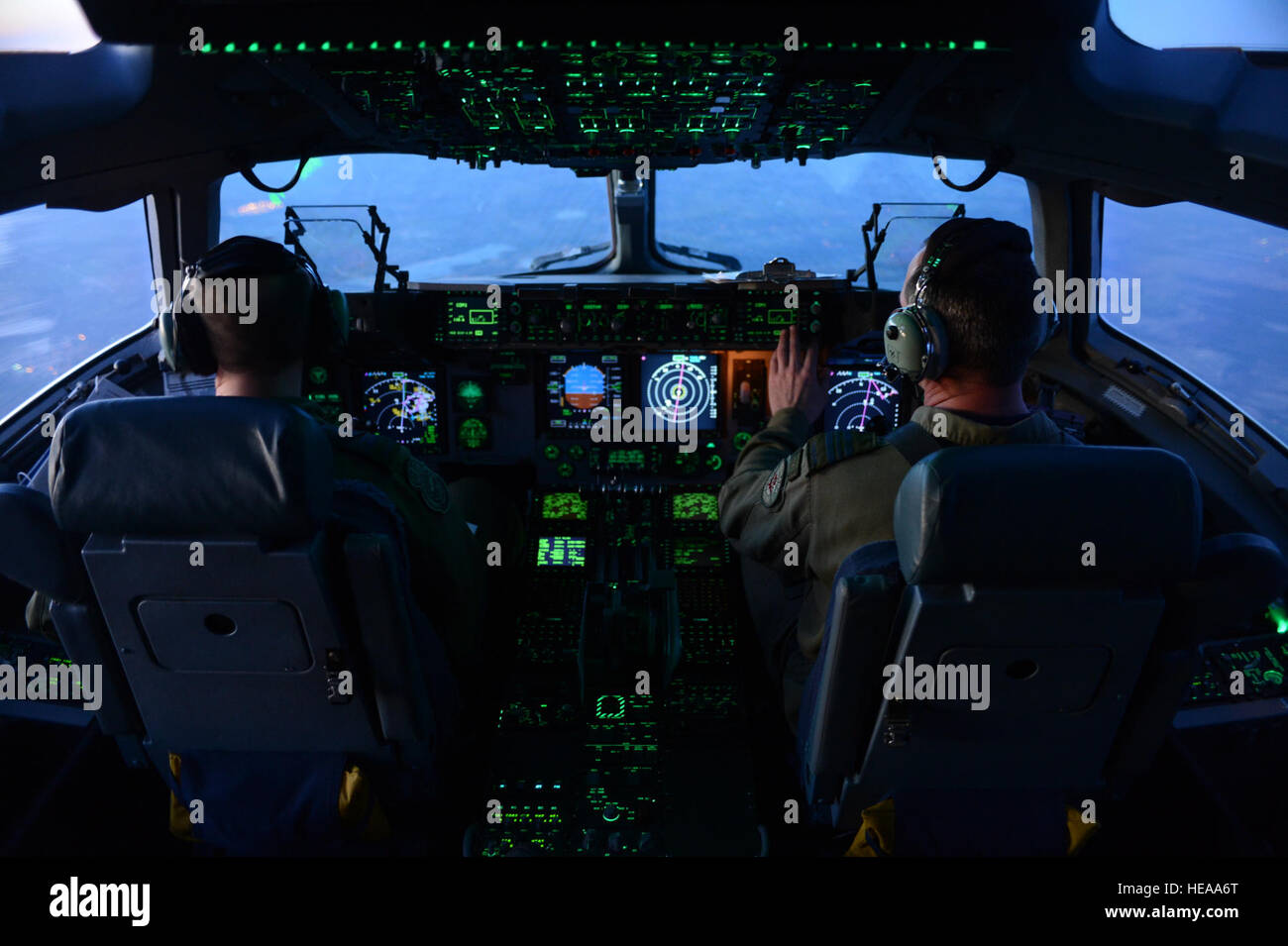 Grant Cooke, Both Pilots Assigned To The 429th (transport) Squadron, Pilot  A Cc177 Globemaster Iii Aircraft For An Airdrop Mission During Joint  Operational