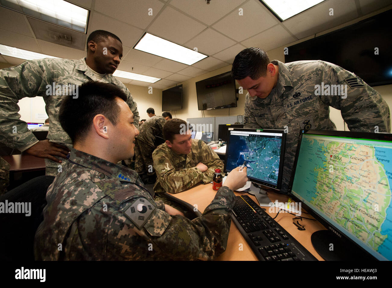 Members Of The Th Security Forces Squadron Use Google Maps To - Google maps us base korea