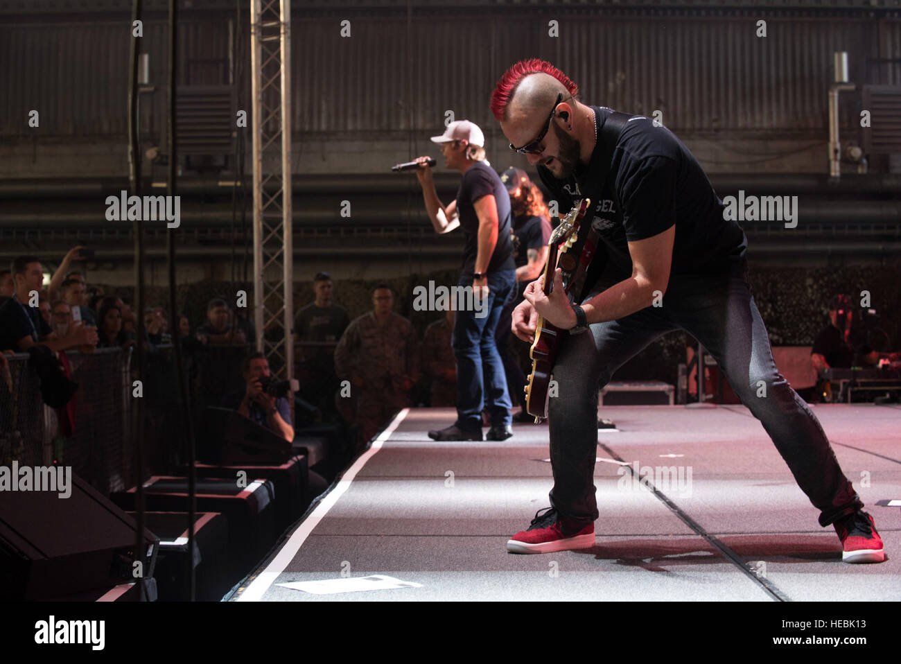 Members of 3 Doors Down an American rock band from Escatawpa Miss. perform a show inside Hangar 1 at Spangdahlem Air Base Germany Oct. 16 2016. & Members of 3 Doors Down an American rock band from Escatawpa ... Pezcame.Com