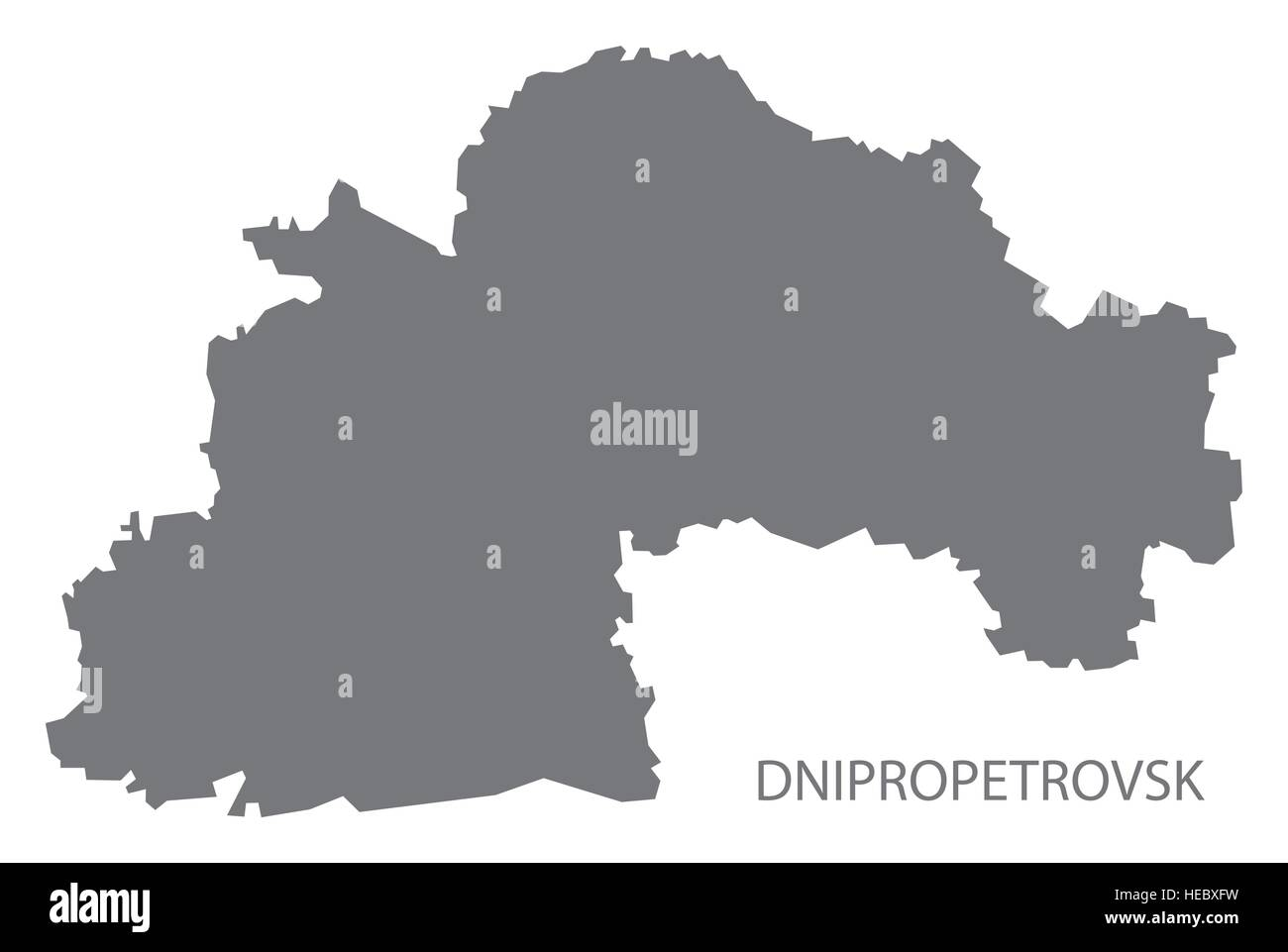 Dnipropetrovsk Ukraine Map grey Stock Vector Art Illustration