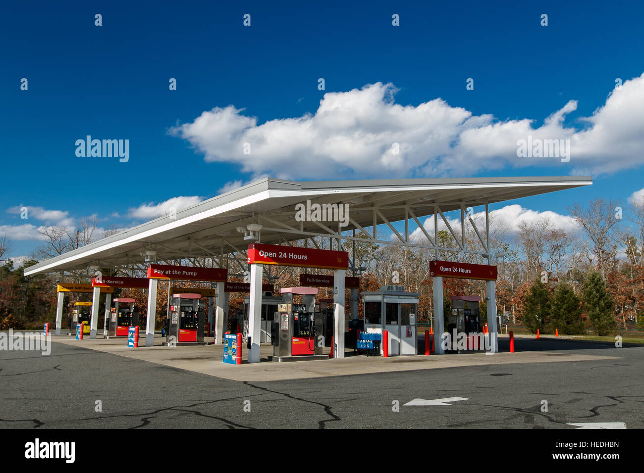 A Wawa gas station on New Jersey route 30. Wawa Inc is a chain of ...