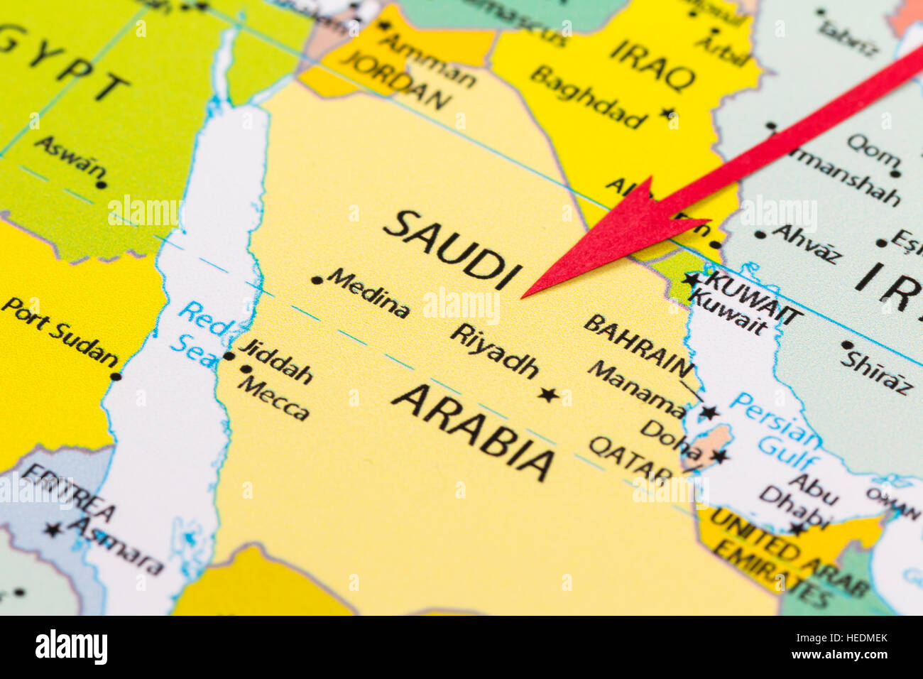 Map Of Saudi Arabia Stock Photos Map Of Saudi Arabia Stock