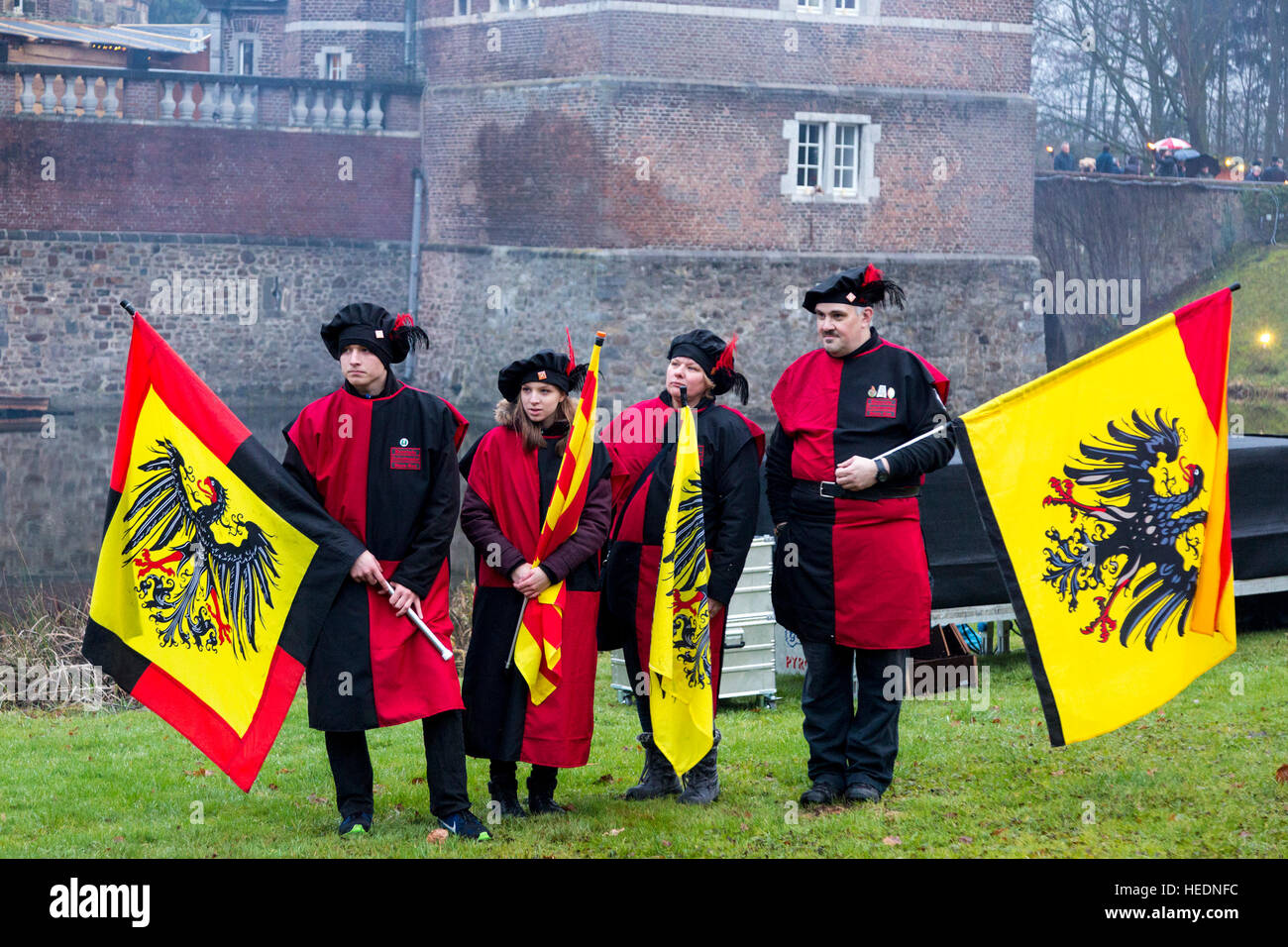 17 december 2016 traditional costume group with flags from the netherlands thousands attend the traditional christmas market at moated castle schloss - Traditional Castle 2016
