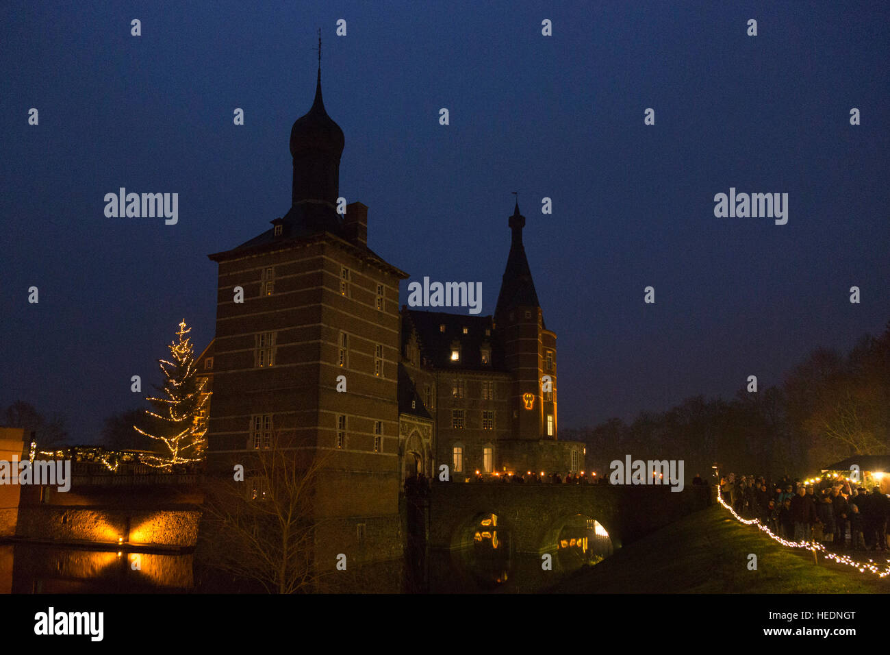 17 december 2016 thousands attend the traditional christmas market at moated castle schloss merode in langerwehe merode north rhine westphalia germany - Traditional Castle 2016