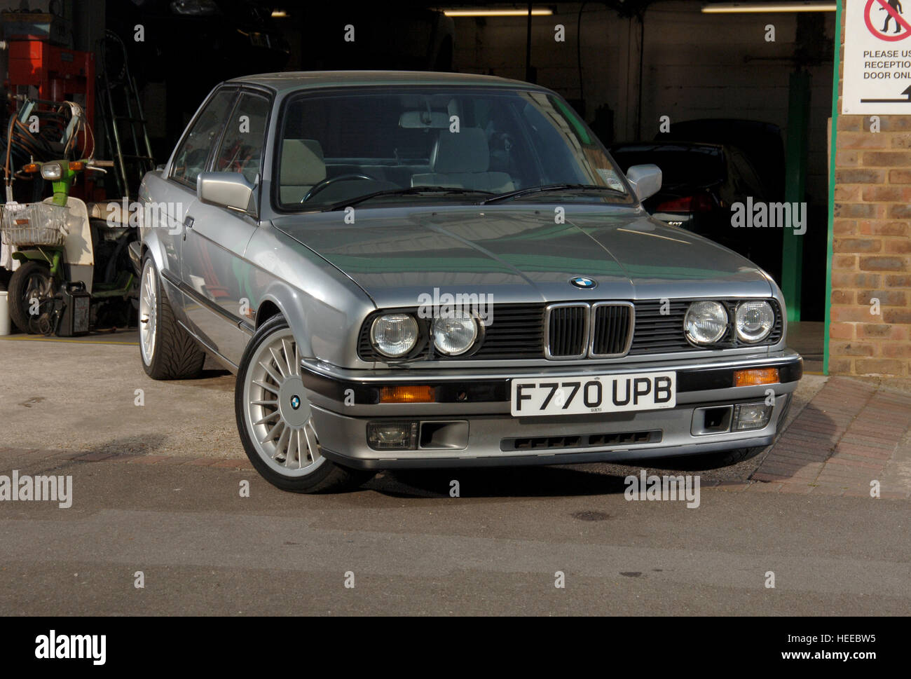 1988 bmw 325i coupe e30 shape 6 cylinder engine 3 series stock photo royalty free image. Black Bedroom Furniture Sets. Home Design Ideas