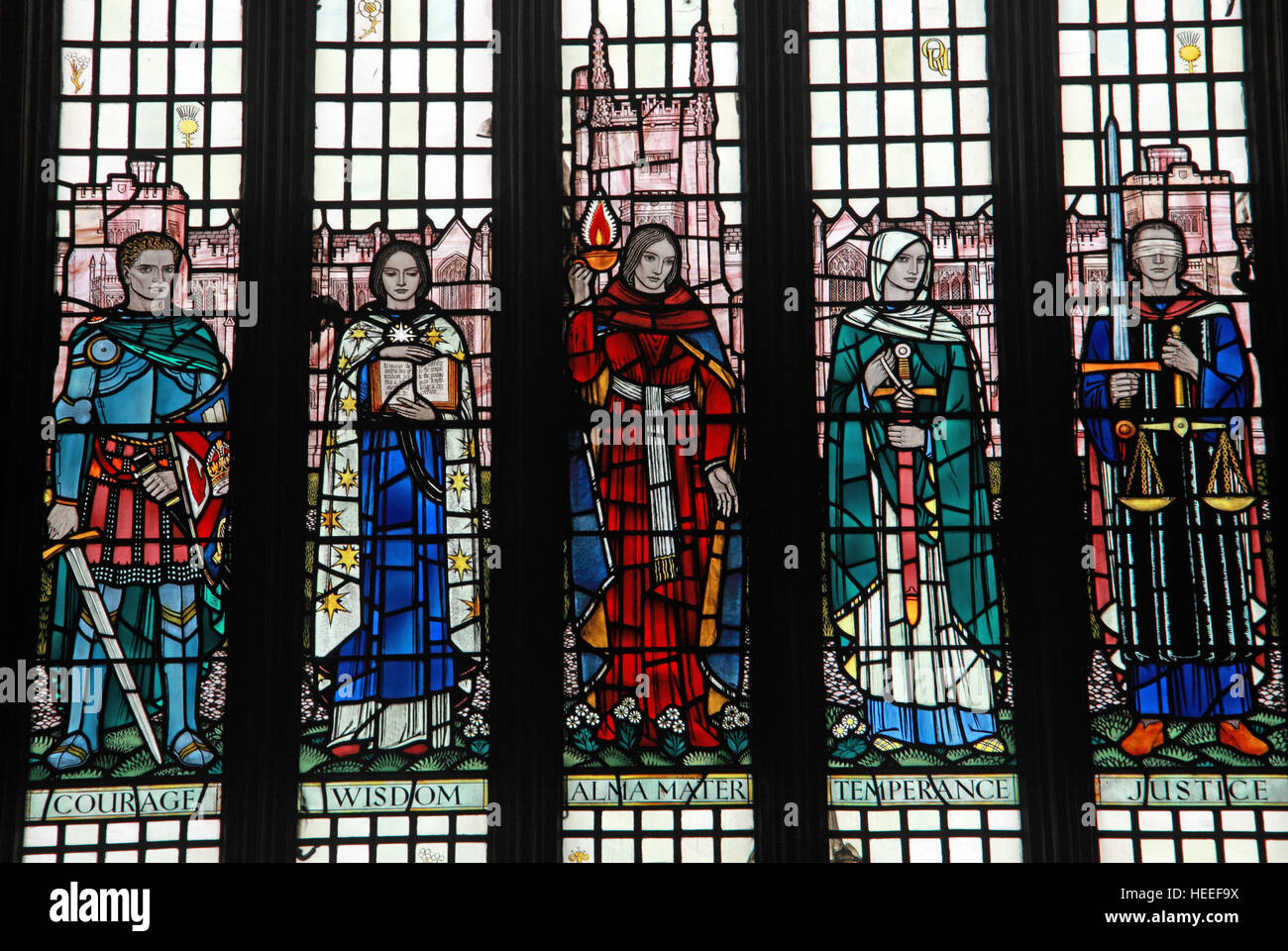 Queens University Belfast Halls Stained Glass WindowNorthern IrelandUK