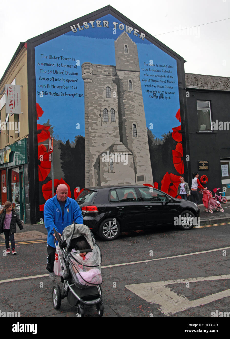 Belfast Unionist, Loyalist Mural Of Ulster Tower Gable End. Garden Gate Murals. Writer Stickers. Custom Sign Maker. Story Book Murals. Vinyl Signs Of Stroke. Training Banners. Action Hero Logo. Mural Website