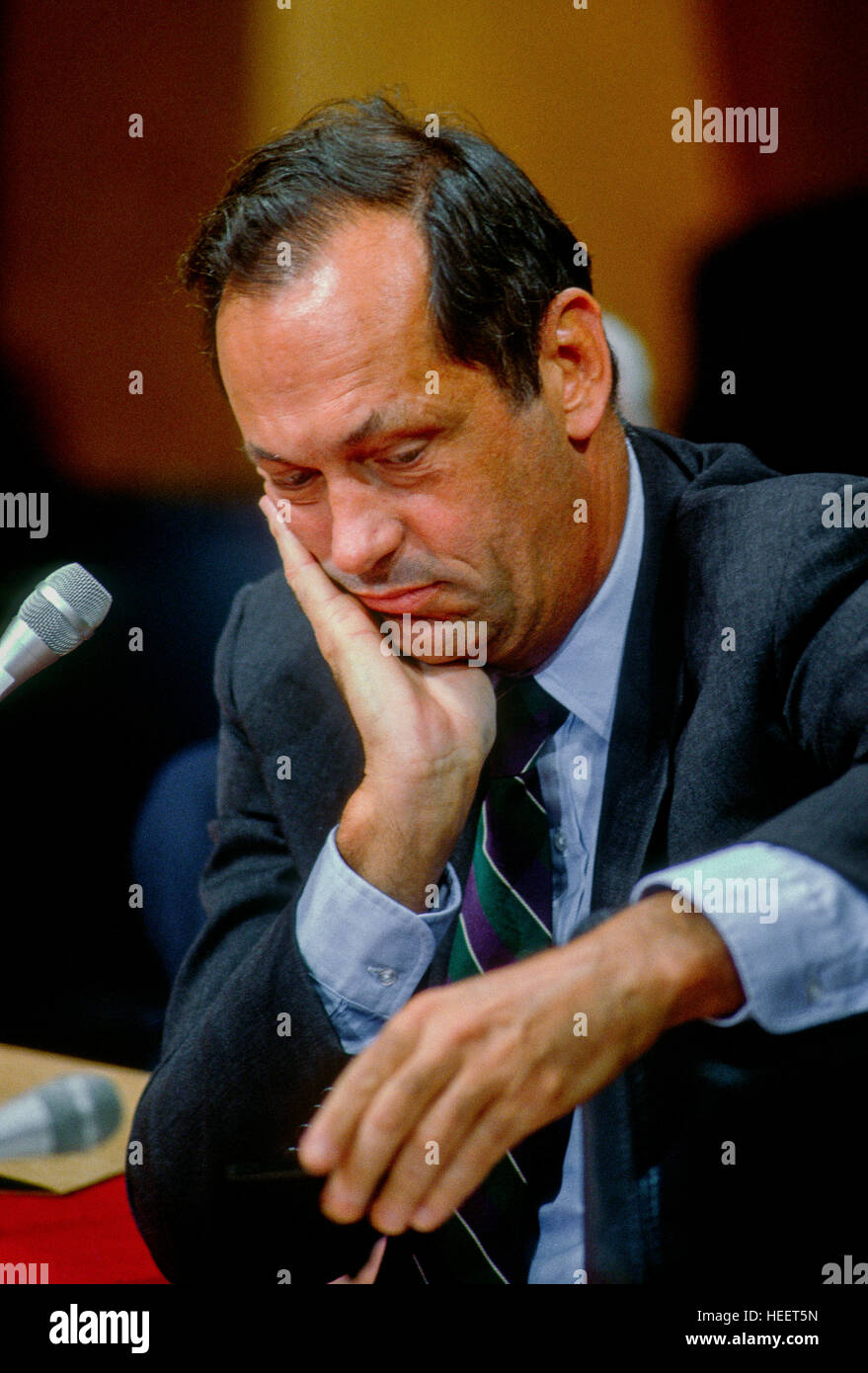 Washington DC USA 1991 Bill Bradley Democrat from New Jersey