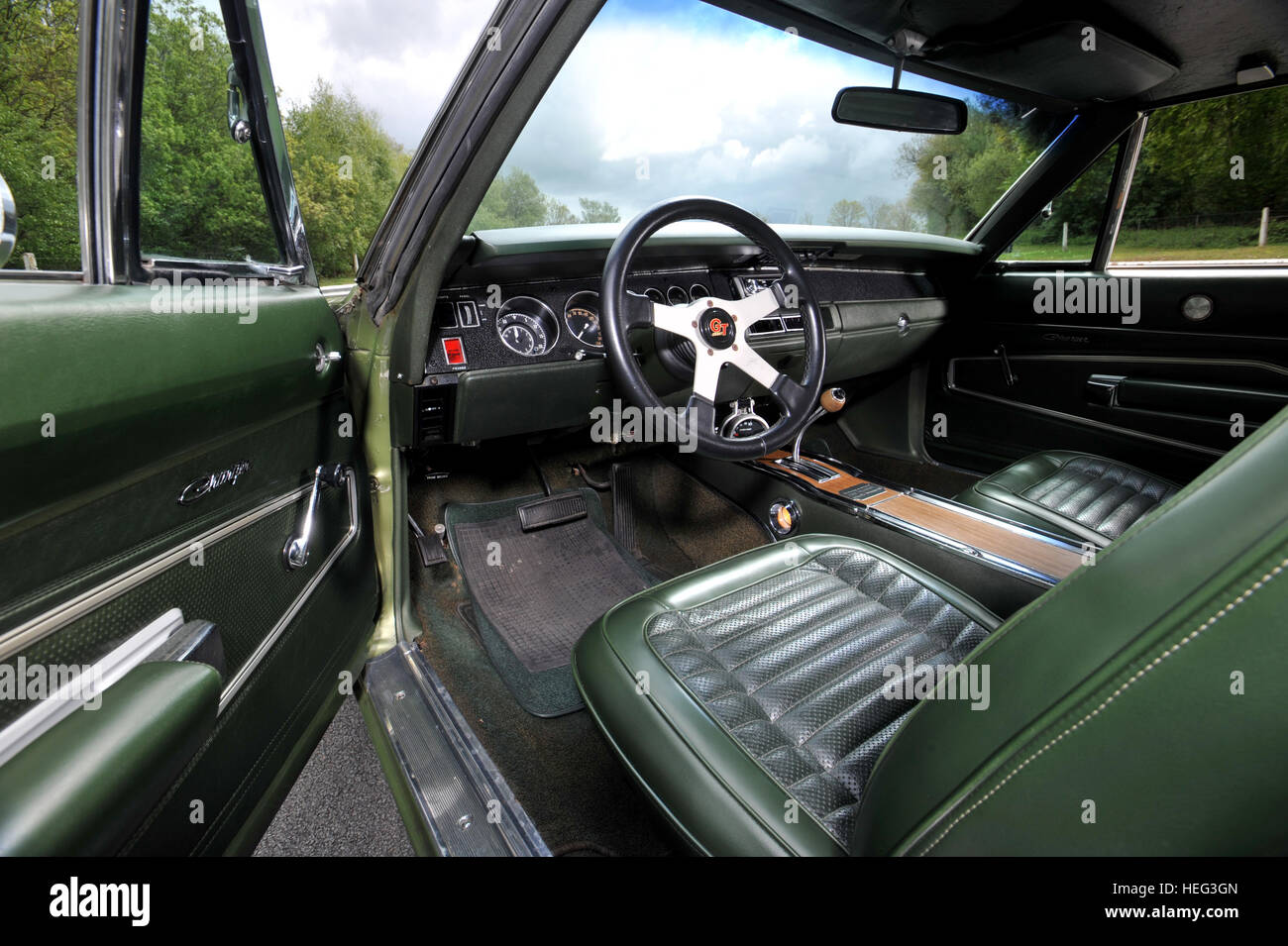 1970 Dodge Charger 500 classic American muscle car interior bucket ...