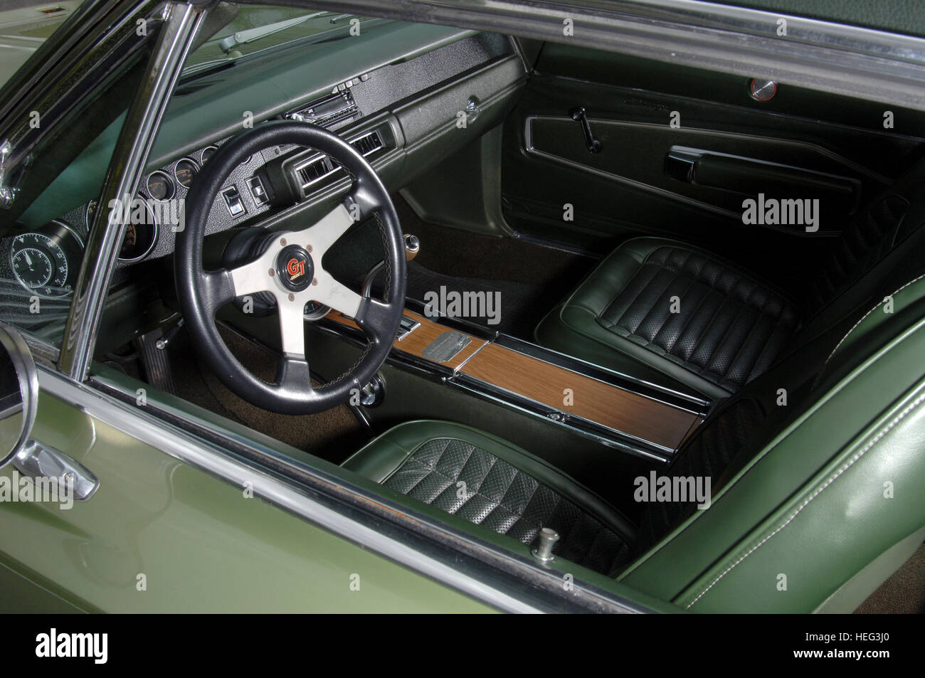 1970 dodge charger 500 classic american muscle car interior bucket stock photo royalty free. Black Bedroom Furniture Sets. Home Design Ideas