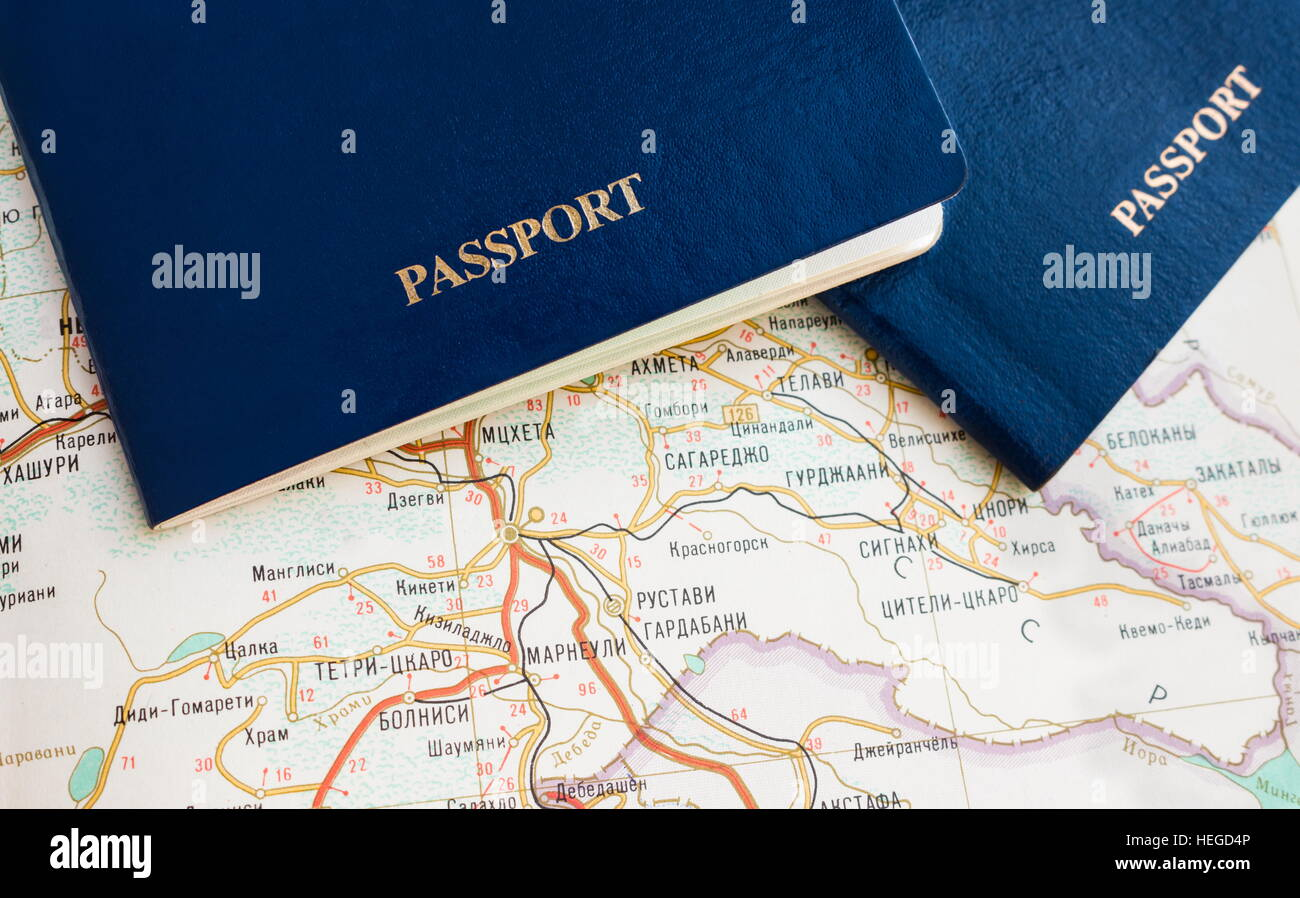 Blue passport on map travel wallpaper stock photo 129439318 alamy blue passport on map travel wallpaper gumiabroncs Images
