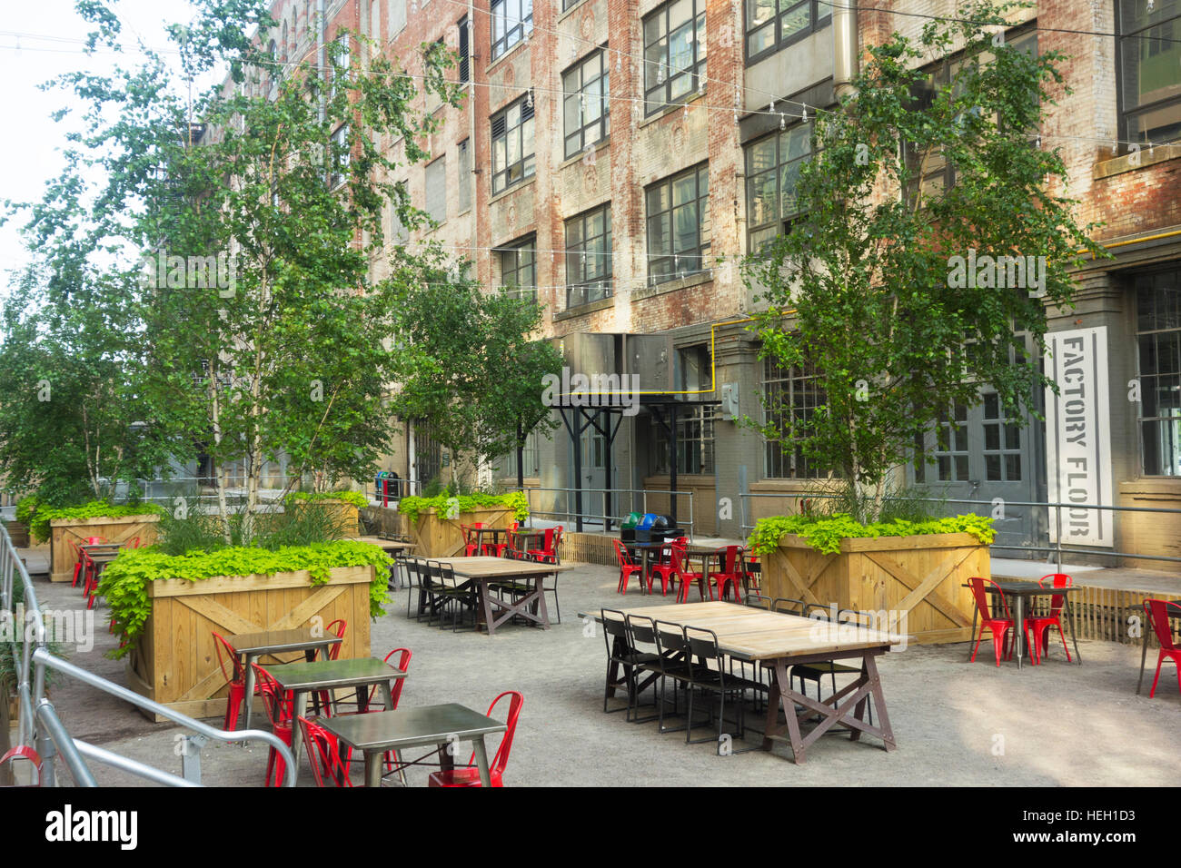 ... Courtyard Industry City Sunset Park Brooklyn NYC   Stock Photo