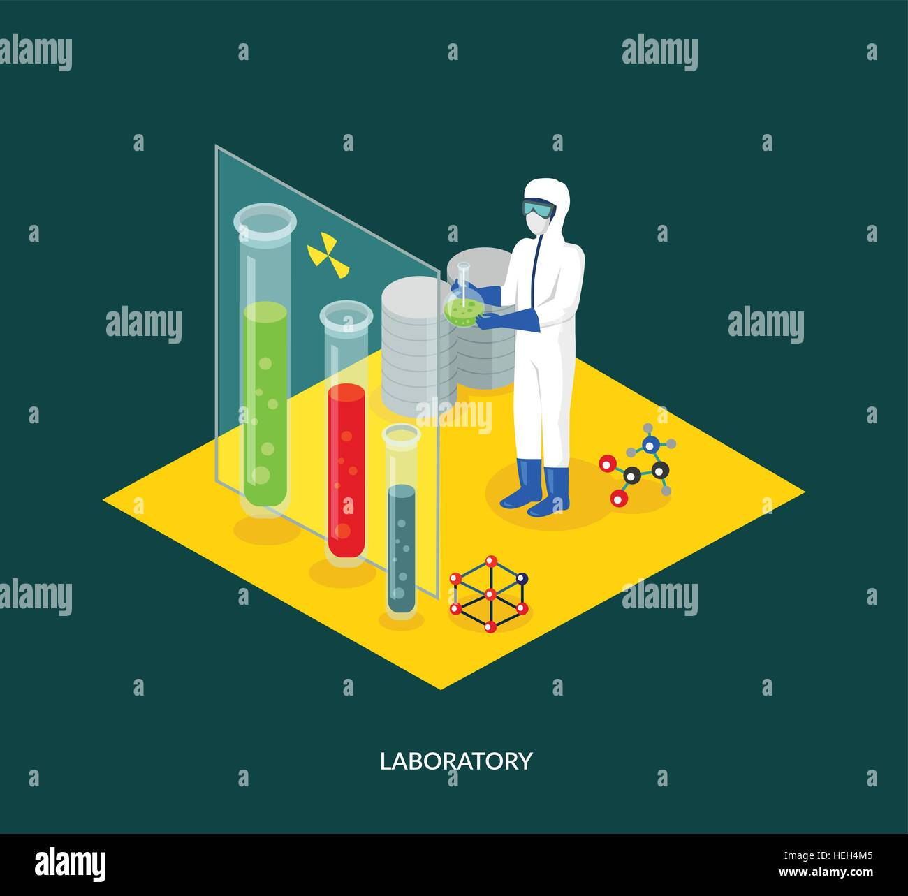 Science Lab Isomatric Design Flat 3d Science And