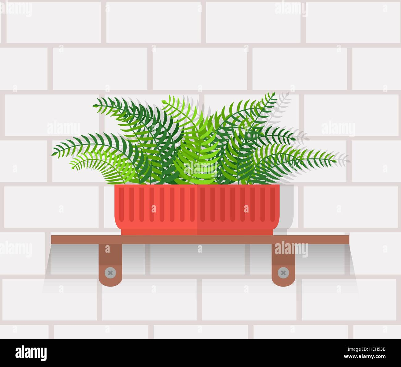 Houseplant design flat concept. House plant pot isolated, indoor ...