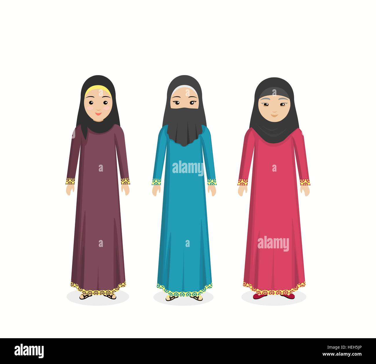 Arabian traditional clothes people. Arab traditional ...