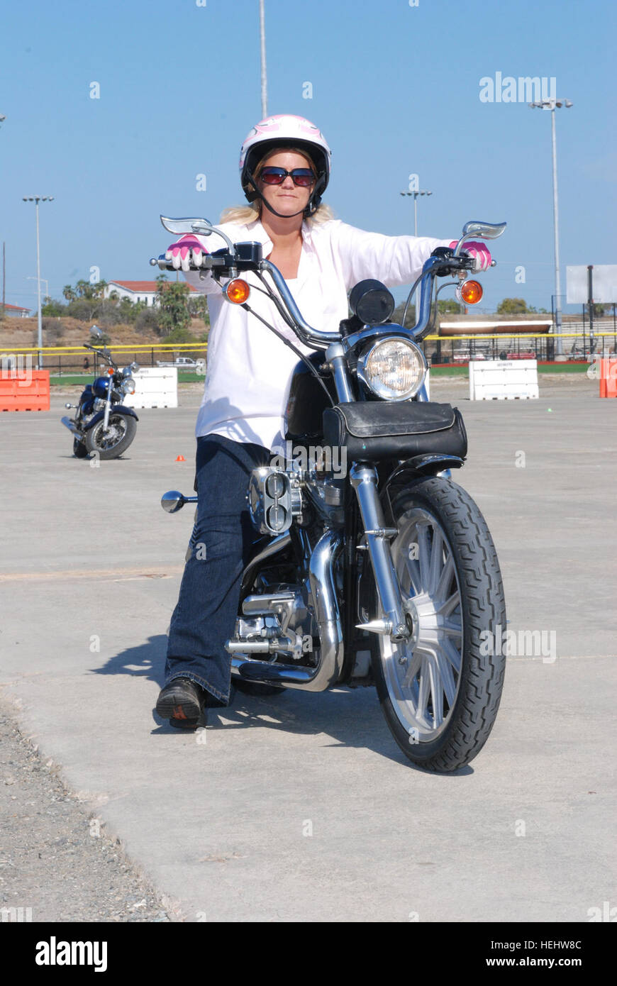 GUANTANAMO BAY, Cuba U2013 Candice Rice, Director Of The Local Navy College  Office, Participates In An Experienced Rider Motorcycle Course At U.S. Naval  Station ...