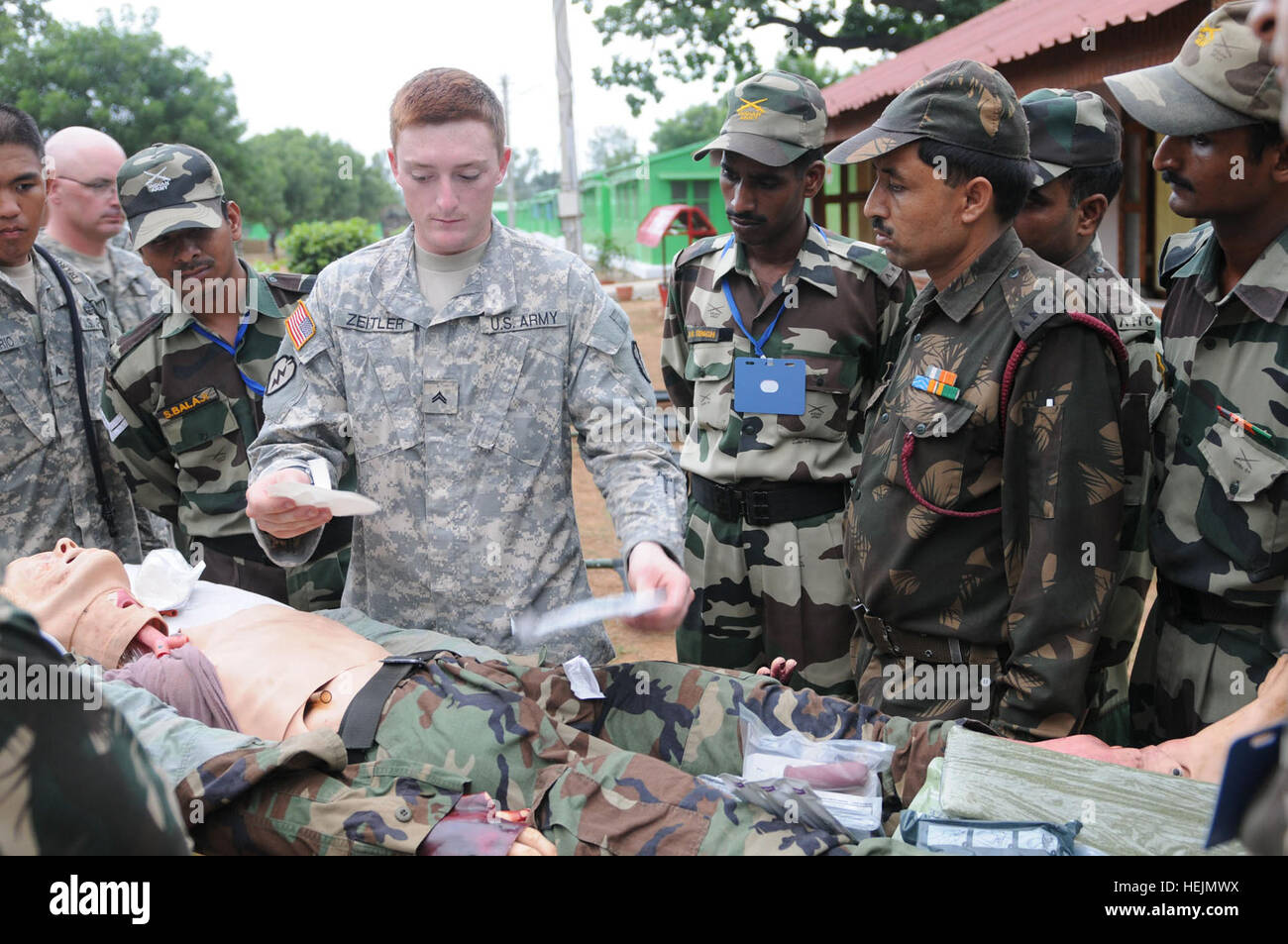 CAMP BUNDELA India Oct 12 2009 – Cpl Kevin Zeitler