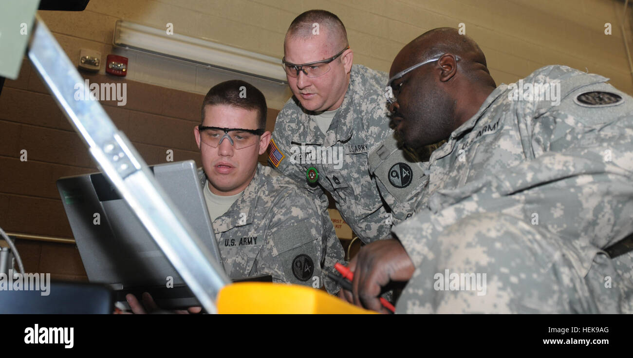 from l r staff sgt joshua bryant sgt 1st class michael merrit from l r staff sgt joshua bryant sgt 1st class michael merrit both instructors at regional training site maintenance fort ntown gap