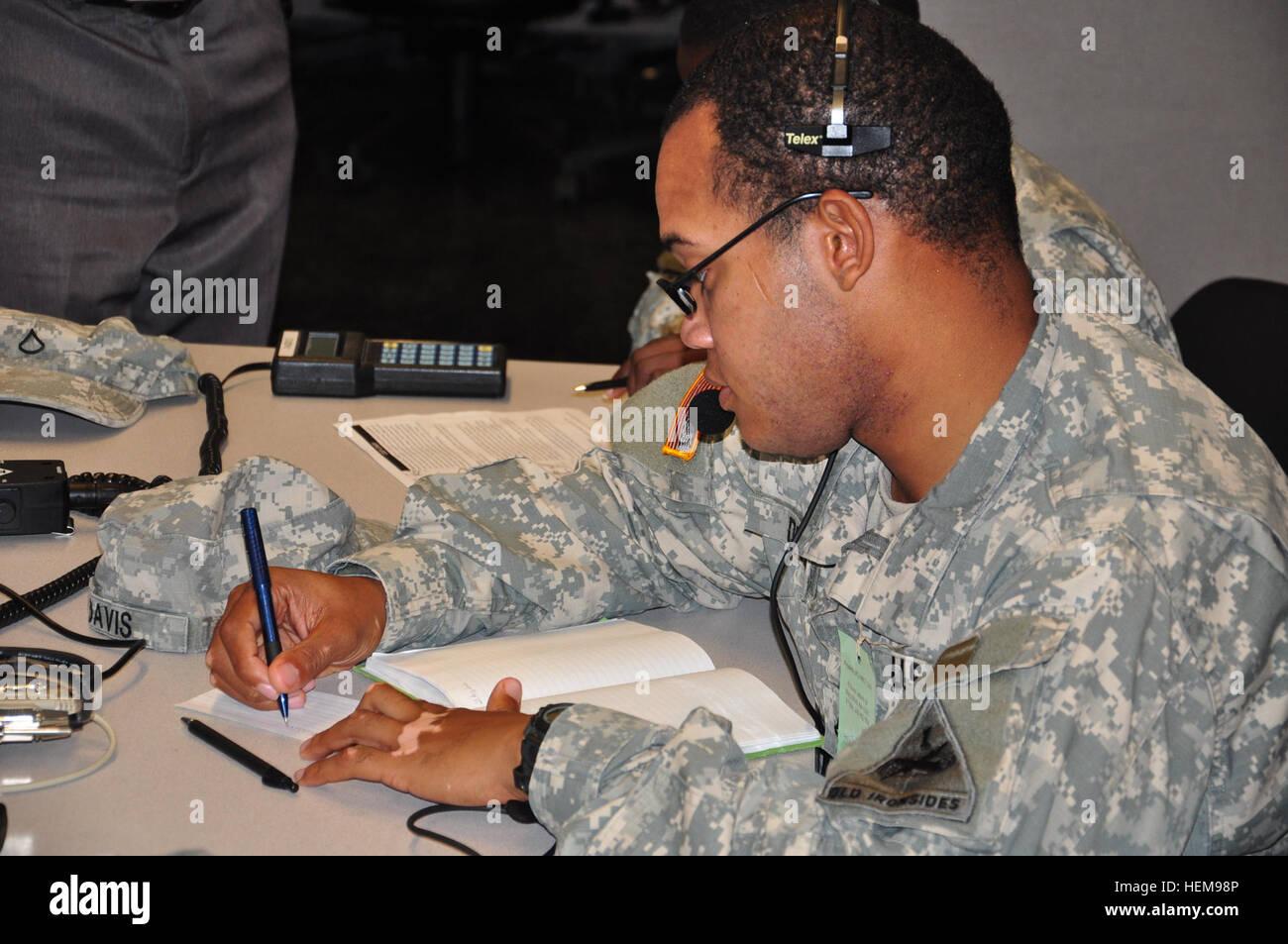Pfc Walter Davis a Bradley fighting vehicle system maintainer